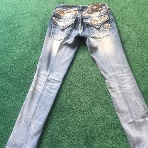 Miss Me Sequin Cropped Jeans
